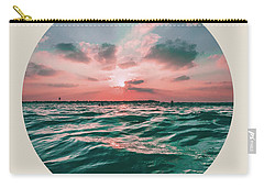Sea Sunset Circle Carry-all Pouch