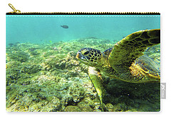 Carry-all Pouch featuring the photograph Sea Turtle #2 by Anthony Jones