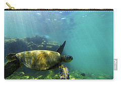 Carry-all Pouch featuring the photograph Sea Turtle #5 by Anthony Jones