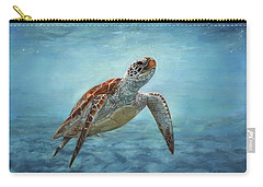 Sea Turtle Carry-all Pouch by David Stribbling