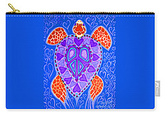 Sea Turtle Hearts 2 Carry-all Pouch by Nick Gustafson