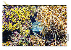 Carry-all Pouch featuring the photograph Sea Turtle Hiding by Perla Copernik