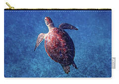 Carry-all Pouch featuring the photograph Sea Turtle by Lars Lentz