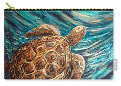 Sea Turtle Wave Guam Carry-all Pouch