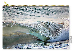 Sea Turtles In The Waves Carry-all Pouch by Barbara Chichester