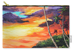 Carry-all Pouch featuring the painting Sea Wall Lahaina by Darice Machel McGuire