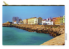 Seafront Promenade In Cadiz Carry-all Pouch