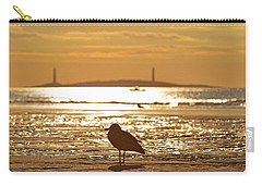 Seagull Admiring Thacher Island Gloucester Ma Good Harbor Beach Carry-all Pouch