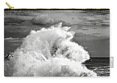 Seagull And A Wave Bw Carry-all Pouch