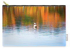 Carry-all Pouch featuring the photograph Seagull And Boat by Silvia Ganora