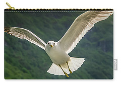 Seagull At The Fjord Carry-all Pouch
