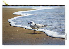 Carry-all Pouch featuring the photograph Seagull by David Chandler