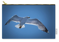 Carry-all Pouch featuring the photograph Seagull by Davor Zerjav