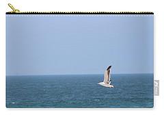 Seagull Flying Over Huntington Beach Carry-all Pouch