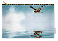 Seagull In Flight Carry-all Pouch by Cyndy Doty