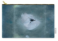Seagull On Iceflow Carry-all Pouch by Victoria Harrington