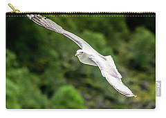 Carry-all Pouch featuring the photograph Seagull On The Fjord by KG Thienemann