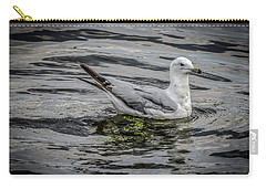 Seagull On The River Carry-all Pouch by Ray Congrove