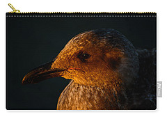 Carry-all Pouch featuring the photograph Seagull Sunrise by Tikvah's Hope
