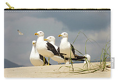 Seagulls At The Beach Carry-all Pouch