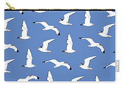 Seagulls Gathering At The Cricket Carry-all Pouch by Elizabeth Tuck