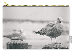 Seagulls  Carry-all Pouch by Heather Green