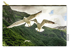 Seagulls Over The Fjord Carry-all Pouch
