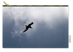Carry-all Pouch featuring the photograph Seagull's Sky 1 by Jouko Lehto