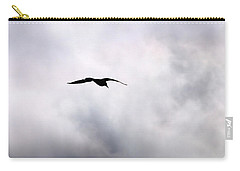 Carry-all Pouch featuring the photograph Seagull's Sky 2 by Jouko Lehto