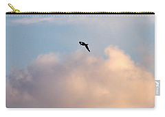 Carry-all Pouch featuring the photograph Seagull's Sky 3 by Jouko Lehto