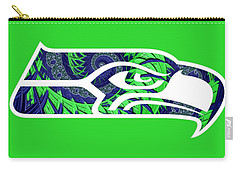 Seahawks Fractal Carry-all Pouch
