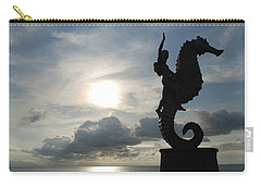 Seahorse Silhouette Carry-all Pouch