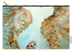 Seahorses In Love 2017 Carry-all Pouch