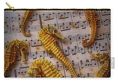 Seahorses On Sheet Music Carry-all Pouch