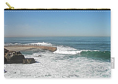 Carry-all Pouch featuring the photograph Seal Beach by Carol  Bradley