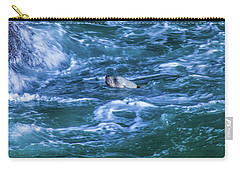 Carry-all Pouch featuring the photograph Seal In Teh Water by Jonny D
