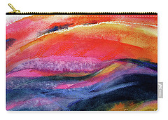 Carry-all Pouch featuring the painting Seams Of Color by Kathy Braud