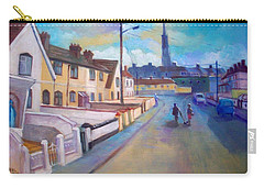 Carry-all Pouch featuring the painting Sean Hueston Place Limerick Ireland by Paul Weerasekera