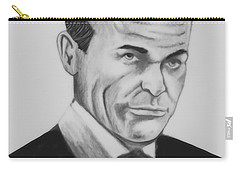 Sean Connery Pencil Drawing Digital Art Carry-all Pouch