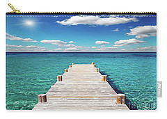 Seascape Sunrise Treasure Coast Florida Pier C6 Carry-all Pouch
