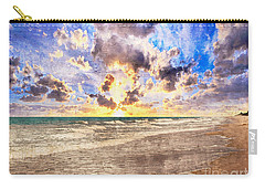 Seascape Sunset Impressionist Digital Painting B7 Carry-all Pouch