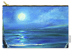 Seascape With A Moon Carry-all Pouch