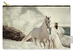 Carry-all Pouch featuring the digital art Seashore Frolic by Melinda Hughes-Berland