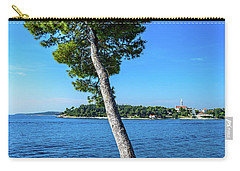 Seaside Leaning Tree In Rovinj, Croatia Carry-all Pouch