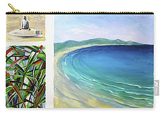 Carry-all Pouch featuring the painting Seaside Memories by Chris Hobel