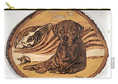 Carry-all Pouch featuring the pyrography Seaside Sam by Denise Tomasura