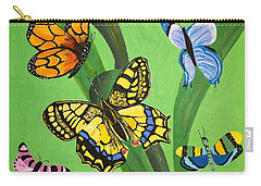 Season Of Butterflies Carry-all Pouch by Donna Blossom