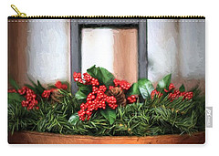 Carry-all Pouch featuring the photograph Seasons Greetings Christmas Centerpiece by Shelley Neff
