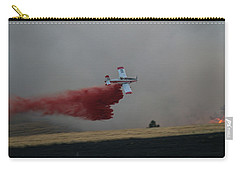 Seat Drops On Indian Canyon Fire Carry-all Pouch by Bill Gabbert