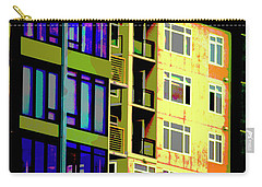 Carry-all Pouch featuring the photograph Seattle Architecture by Yulia Kazansky